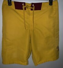 Men's UNDER ARMOUR Sz 34 Yellow Mania Board shorts Surf Swim Shorts 1257787