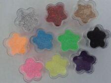 10 x 2 grammo Colori Fiore Glitter BARATTOLI PER TATUAGGI GLITTER ROSA BLU ORO