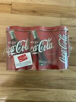 1998 Coca-Cola 6-Pack Collectors Tin With Caramel Popcorn Inside - New Sealed