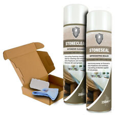 LTP Stone Care Set for Fireplace and Worktops. Clean, Seal & Maintain All in One