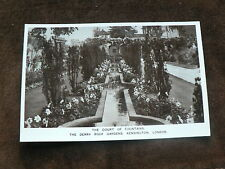Old Photo Postcard:  Derry Roof Gardens Kensington, London, Court of Fountains