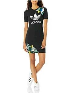 adidas Originals Women's Tee Dress, Black, Size Large Gdi0