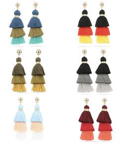 Three Colours Tassel Earring