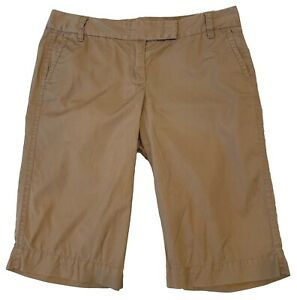 J.Crew City Fit Womens Weathered Broken-In Chino Beige Khaki Long Shorts Sz 4