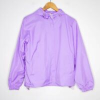 Pastel Womens Purple Windbreaker Jacket Size Medium