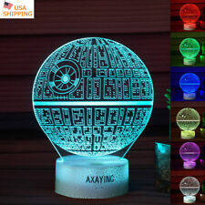 Star Wars The Last Jedi Death Star 3D LED Night light Table Lamp Gift 7color