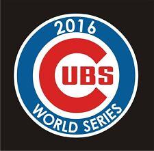 Chicago Cubs WORLD SERIES 2016 car decal great stocking stuffer bumper sticker