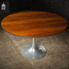 More details for large mid century arkana rosewood table with aluminium base
