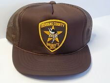 VTG 80s - MN - DOUGLAS COUNTY SHERIFF'S DEPT Snapback Trucker Hat Cap Mesh Patch