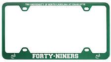 University of North Carolina at Charlotte -Metal License Plate Frame-Green