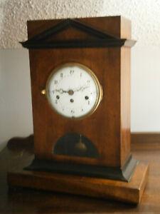 Antique Rare Austrian Biedermier? Silk Thread Empire Style Mantel Clock