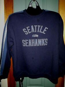 SEATTLE SEAHAWKS SWEATSHIRT NFL REEBOK SIZE LG UNIQUE! VINTAGE! NICE! L@@K!