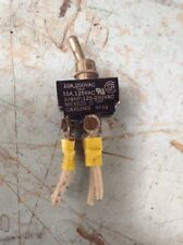 On-Off Aircraft Toggle Switch 10A/250VAC, 15A/125VAC, 3/4hp