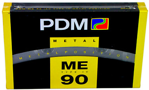 NEW & SEALED PDM ME 90 TYPE 4 IV POSITION METAL BLANK AUDIO CASSETTE TAPE
