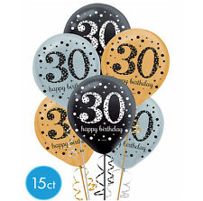 Thirtieth 30th Birthday Sparkling Celebration Balloon Party Supplies Decoration