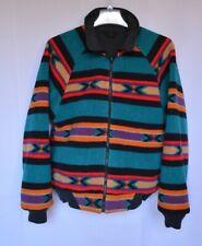 VTG 90s WOOLRICH Men's Aztec Southwestern Full Zip Reversible Fleece Jacket M