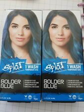 Splat Rebellious Color 1 wash Temporary Hair Color Dye BOLDER BLUE ~ NEW