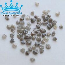 5 carats lot 100% Natural Loose Rough Diamonds Grey 2.60mm Raw Uncut Real