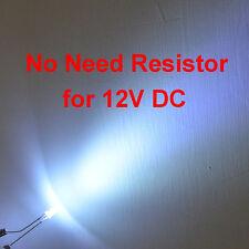 15 pcs Direct 12V DC 3mm Bright White LEDs No Need of Resistors Lighting Kits
