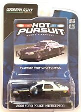 2010 GreenLight HOT PURSUIT 2008 FLORIDA HIGHWAY PATROL FORD CROWN POLICE mint!