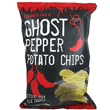 NEW TRADER JOE'S EXCLUSIVE GHOST PEPPER POTATO CHIPS 7 OZ BAG KETTLE COOKED