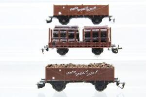 TT  DR 3 Güterwagen Hochbordwagen Rungenwagen boxcar Konvolut /J21
