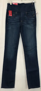 Spanx Jean The Signature Straight Blue Denim Stretch Nwt Size 27
