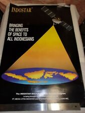 POSTER -  THE INDOSTAR DIRECT BROADCAST SATELLITE PROGRAM / INDONESIAN