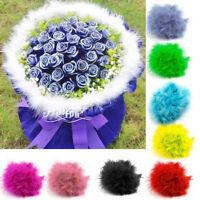 2x Multi-color 2M Marabou Feather Boa For Fancy Dress Party Burlesque Boa Decor>
