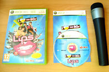 Lips I Love The 80s Wireless Microphone For Microsoft Xbox 360 Bundle Sing Game