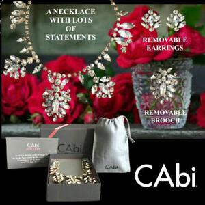 Cabi PRINCESA Necklace/Brooch/Earrings Crystal Rhinestone Centerpiece 5 in1 Set