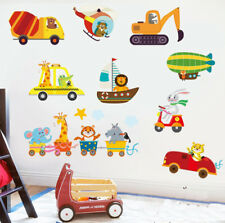 Animal Transportation Truck Car Train Removable Wall Stickers Kids Nursery Decor