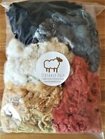 100g 'Teesdale Felt'-Dyed Curly Wool, Curly Locks For Wet and Needle Felting