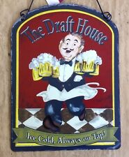 Draft Beer Metal Tin Sign Beer Wall Tavern Garage Decor Home Pub Bar Plaque