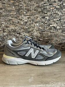 Men's New Balance 990v4 M990XG4 Magnet Grey Silver Yellow Size 12D Made in USA
