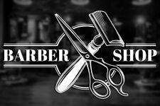 Frisuer Ladenschild - Fensteraufkleber Übertragung POL vinyl Haar Wandkunst #44