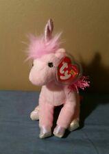 "Ty Beanie Babies FAIRYTALE the Pink Unicorn Horse 7"" NWT"