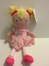 NWT Carter's Just One You Plush Doll Pink Dress Daddy's Girl Blond Hair Pigtails