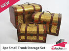 Brand NEW Antique Small Trunk Chest Set Jewellery Boxes