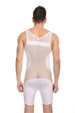 Body débardeur blanc taille L transparence sheer plum sexy Ref 320 combinaison