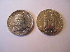 (2) Double Eagle Medals, President Reagan, Bush & Gorbachev Nat'l Historic Mint