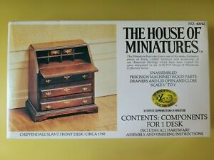 NEW House of Miniatures Doll Furniture Chippendale Slant Front Desk #40042 Kit