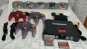 Nintendo 64 Console bundle with controllers games memory card rumble pak