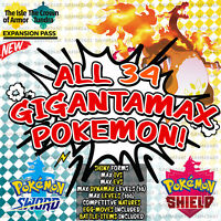 Pokemon Sword and Shield ⚔️ 'ALL 34' SHINY GIGANTAMAX POKEMON BUNDLE ✨ | 6IV 🛡️