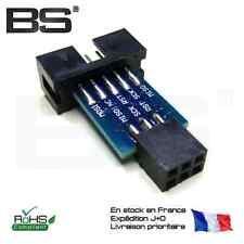 AVRISP / USBasp / STK500 10PIN to 6PIN standard conversion seat (E3A2)