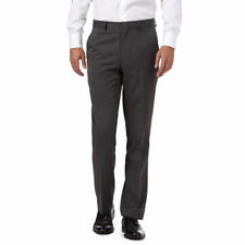 The Collection Grey Donegal Flat Front Trousers 34L TD170 PP 06