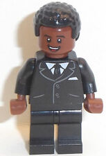 Lego Male Minifigure x 1 with Red Brown Face & Black Hair ref z6