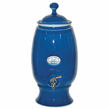 Large Stoneware Water Filter Purifier with Fluoride cartridge in Cobalt Blue