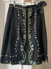 """VVGC Cacharel Silk A Line Embroidered Skirt 28"""" Waist/UK10"""