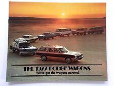 1977 Dodge Station Wagon Car Sales Brochure Catalog  Van Ramcharger Aspen Monaco